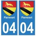 04 Pierrevert ville autocollant plaque