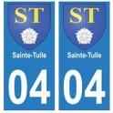 04 Sainte-Tulle ville autocollant plaque