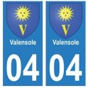 04 Valensole ville autocollant plaque