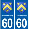 60 La Chapelle-en-Serval blason autocollant plaque stickers ville