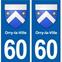 60 Orry-the-City coat of arms sticker plate stickers city