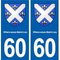 60 Villers-sous-Saint-Leu coat of arms sticker plate stickers city
