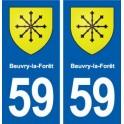 59 Beuvry-la-Forêt blason autocollant plaque stickers ville