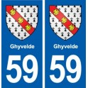 59 Ghyvelde blason autocollant plaque stickers ville