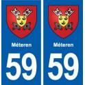 59 Méteren coat of arms sticker plate stickers city