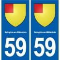 59 Sainghin-en-Mélantois blason autocollant plaque stickers ville