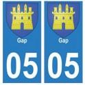 05 Gap ville autocollant plaque