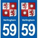 59 Verlinghem coat of arms sticker plate stickers city