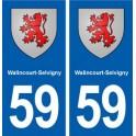 59 Walincourt-Selvigny blason autocollant plaque stickers ville