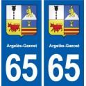 65 Argelès-Gazost blason autocollant plaque stickers ville