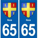 65 Ibos blason autocollant plaque stickers ville