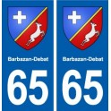 65 Barbazan-Debat blason autocollant plaque stickers ville
