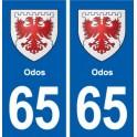 65 Odos blason autocollant plaque stickers ville