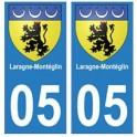 05 Laragne-Montéglin ville autocollant plaque