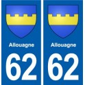 62 Allouagne coat of arms sticker plate stickers city