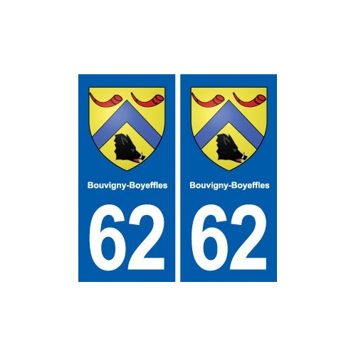 62 Bouvigny-Boyeffles blason autocollant plaque stickers ville