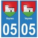 05 Veynes ville autocollant plaque