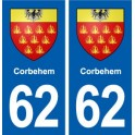 62 Corbehem blason autocollant plaque stickers ville