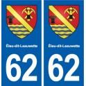 62 Éleu-dit-Leauwette coat of arms sticker plate stickers city
