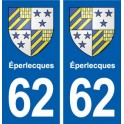 62 Éperlecques blason autocollant plaque stickers ville