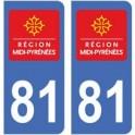 81 Tarn autocollant plaque