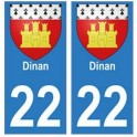 21 Côte d'Or autocollant plaque blason armoiries stickers département