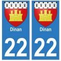 21 Côte d'Or autocollant plaque blason armoiries stickers département