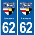 62 Labourse coat of arms sticker plate stickers city