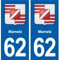 62 Mametz blason autocollant plaque stickers ville
