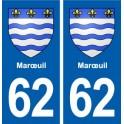 62 Marœuil blason autocollant plaque stickers ville