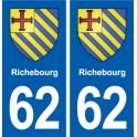 62 Richebourg blason autocollant plaque stickers ville