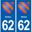 62 Verton coat of arms sticker plate stickers city