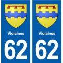 62 Violaines blason autocollant plaque stickers ville