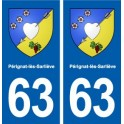 63 Pérignat-lès-Sarliève coat of arms sticker plate stickers city
