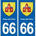 66 Palau-del-Vidre blason autocollant plaque stickers ville