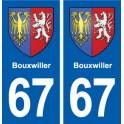67 Bouxwiller blason autocollant plaque stickers ville