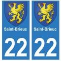 22 Saint-Brieuc autocollant plaque blason armoiries stickers département
