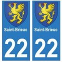22 Saint-Brieuc autocollant plaque blason armoiries stickers département