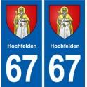 67 Hochfelden blason autocollant plaque stickers ville