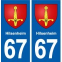 67 Hilsenheim coat of arms sticker plate stickers city