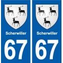 67 Scherwiller blason autocollant plaque stickers ville