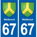 67 Weitbruch coat of arms sticker plate stickers city