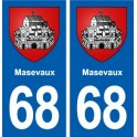 68 Masevaux coat of arms sticker plate stickers city