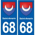68 Saint-Amarin coat of arms sticker plate stickers city