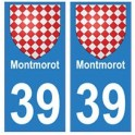 39 Montmorot autocollant plaque blason armoiries stickers département ville