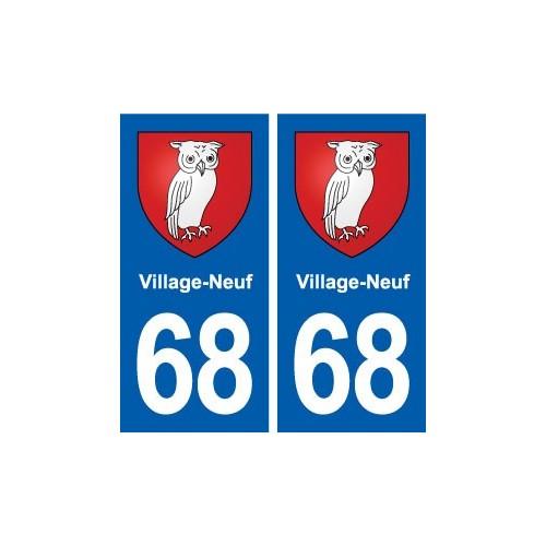 68 village neuf blason autocollant plaque immatriculation for Piscine village neuf horaires