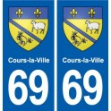 69 During-the-City coat of arms sticker plate stickers city