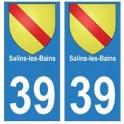39 Salins-les-Bains autocollant plaque blason armoiries stickers département ville