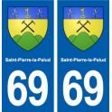 69 Saint-Pierre-la-Palud blason autocollant plaque stickers ville