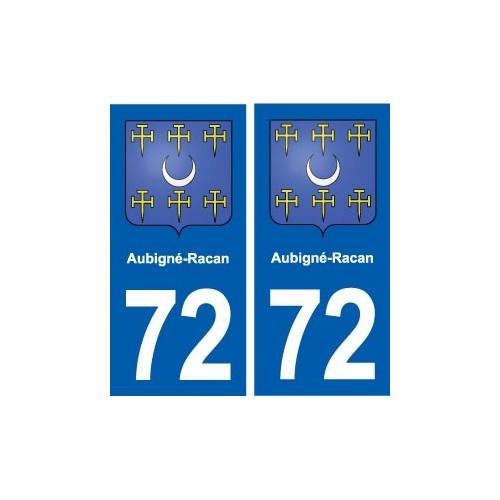 72 Aubigné-Racan blason autocollant plaque stickers ville